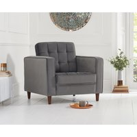 Read more about Ria grey velvet armchair