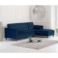 Read more about Arena blue velvet right facing chaise sofa