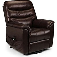 Product photograph showing Peter Leather Dual Motor Rise And Recline Chair