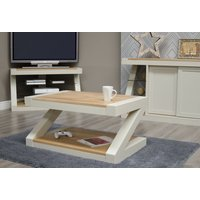 Read more about Z painted coffee table with natural oak top