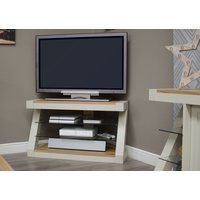 Read more about Z painted corner tv unit with natural oak top