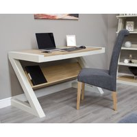 Read more about Z painted desk with natural oak top