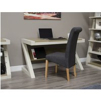 Read more about Z painted desk with smoked oak top