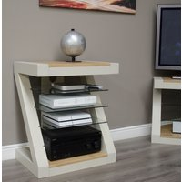 Read more about Z painted hifi cabinet with natural oak top