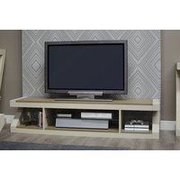 Read more about Z painted large plasma tv unit with smoked oak top