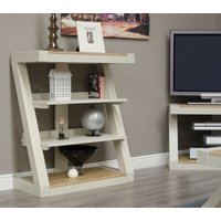 Read more about Z painted small bookcase with natural oak top