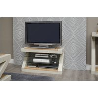 Read more about Z painted tv cabinet with natural oak top