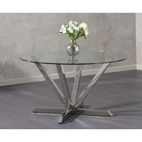Read more about Ray round glass dining table