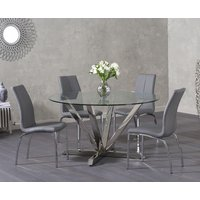 Ray Round Glass Dining Table with Cavello Chairs
