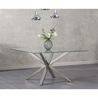 Product photograph showing Reiner Square Glass Dining Table