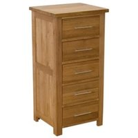 Read more about Opus oak 5 drawer narrow chest