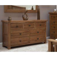 Read more about Rustic oak 7 drawer chest