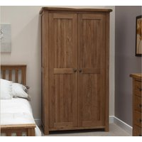 Product photograph showing Rustic Oak Double Wardrobe