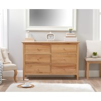 Product photograph showing Suri Oak 6 Drawer Chest