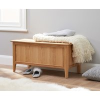Product photograph showing Suri Oak Blanket Box