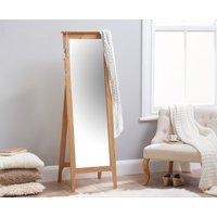Product photograph showing Suri Oak Cheval Mirror
