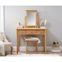 Product photograph showing Suri Oak Dressing Table