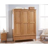 Read more about Suri oak large three door wardrobe