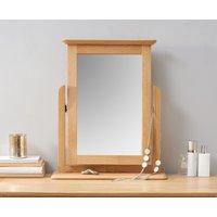 Product photograph showing Suri Oak Trinket Mirror