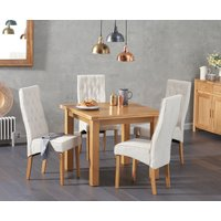 Read more about Somerset 90cm flip top oak table with jasper fabric chairs