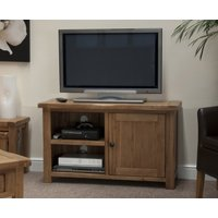 Product photograph showing Rustic Oak Tv Cabinet