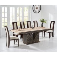 Tenore 180cm Marble Effect Dining Table with Raphael Chairs