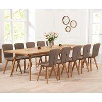Tivoli 200cm Retro Oak Extending Dining Table and Chairs