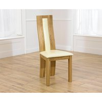 Toronto Solid Oak Cream Dining Chairs (Pairs)