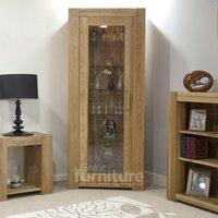 Product photograph showing Trend 190cm Oak Glazed Bookcase