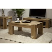Product photograph showing Trend Oak 90cm Coffee Table