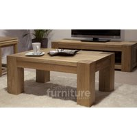 Product photograph showing Trend 120cm Oak Coffee Table
