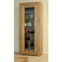 Product photograph showing Trend 190cm Oak Glazed Display Cabinet
