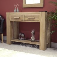 Product photograph showing Trend Oak Console Table