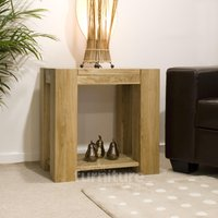 Product photograph showing Trend Oak Side Table