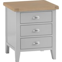 Read more about William oak and grey extra large 3 drawer bedside table