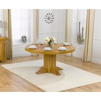 Torino 150cm Oak Round Dining Table