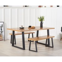 Product photograph showing Uma 180cm Dining Table And Benches