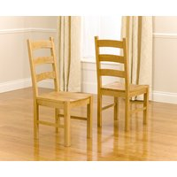 Read more about Vermont solid oak dining chairs -pairs-