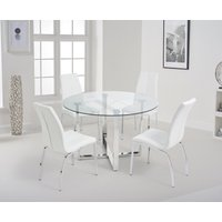 Vidre 120cm Round Glass Dining Table with Cavello Chairs