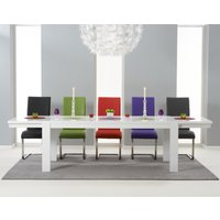 Venice 200cm White High Gloss Extending Dining Table with Ma