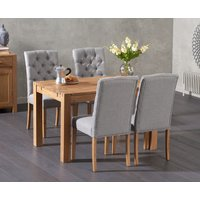 Read more about Verona 120cm solid oak dining table with candice chairs