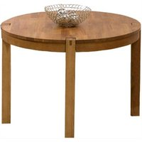 Verona 110cm Oak Round Dining Table