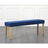 Product photograph showing Mia Large Blue Velvet Bench