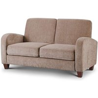 Product photograph showing Vesta Mink Chenille Fabric 2 Seater Sofa