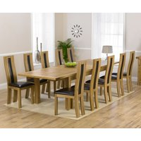 Rustique 220cm Solid Oak Extending Dining Table with Toronto