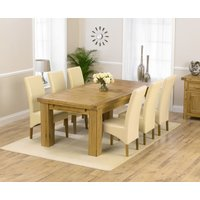 Loire 230cm Solid Oak Extending Dining Table with Cannes Cha