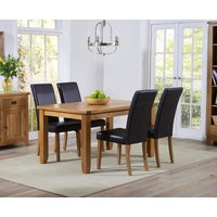 Read more about Yateley 140cm oak dining table with albany chairs