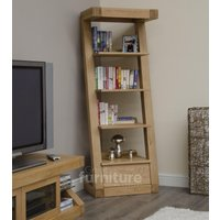 Read more about Z solid oak designer narrow bookcases