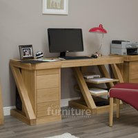 Read more about Z solid oak designer large desk