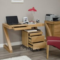 Read more about Z solid oak designer small desk